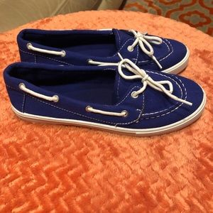 Top Moda Boat Shoes Blue Size 6.5
